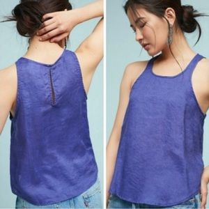 Anthropologie Meave Linen Tank Top